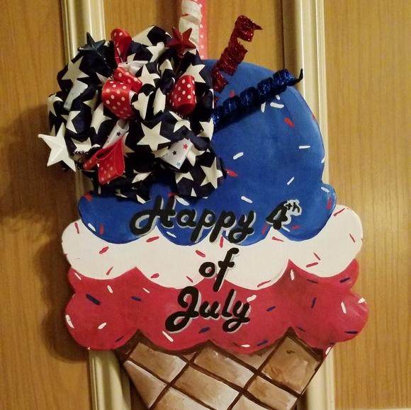 Fourth of July door hanger
